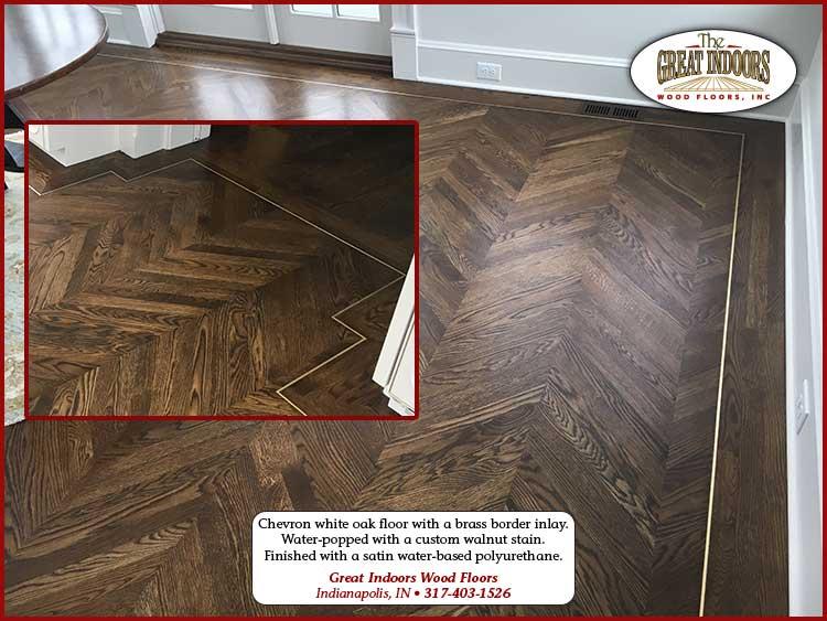 Chevron White Oak Floor In Indianapolis