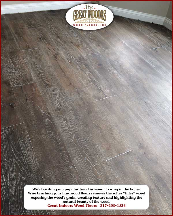 Photo Of A Wire Brushed Hardwood Floor In An Indianapolis Home