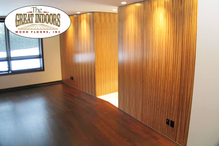 Cherry Floor With Wood Walls In An Indiana Home